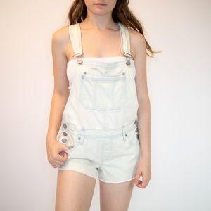 Aeropostale Acid Wash Denim Overalls (Shorts)